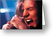 Pearl Jam Greeting Cards - Eddie Vedder Greeting Card by Gordon Dean II