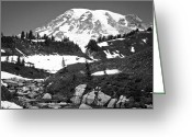 Edith Greeting Cards - Edith Creek near Mount Rainier Greeting Card by David Patterson