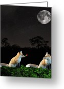Lesvos Greeting Cards - Eftalou Foxes Greeting Card by Eric Kempson
