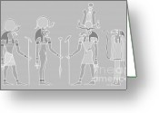 Ceremony Greeting Cards - Egyptian gods and goddess Greeting Card by Michal Boubin