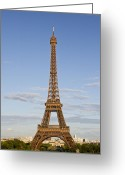 Puddle Photo Greeting Cards - Eiffel Tower Greeting Card by Melanie Viola