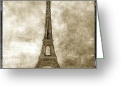 Lives Greeting Cards - Eiffel tower. Paris Greeting Card by Bernard Jaubert