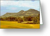 Surroundings Greeting Cards - Eildon Hills Greeting Card by James Shepherd