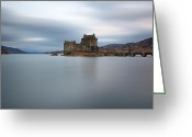 Most Photographed Photo Greeting Cards - Eilean Donan Castle Greeting Card by Maria Gaellman