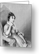 Custis Greeting Cards - Eleanor Parke Custis Lewis (1779-1852) Greeting Card by Granger