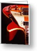 Knobs Greeting Cards - Electric Guitar I Greeting Card by Mike McGlothlen