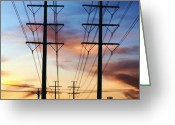 Igdaily Greeting Cards - Electric Sunset Greeting Card by James Granberry