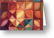 Grid Mixed Media Greeting Cards - Elevating The Spirit - Finding Heart Greeting Card by Kerryn Madsen-Pietsch