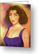 Queen Mother Elizabeth Greeting Cards - Elizabeth Taylor Greeting Card by Jane  Ricker