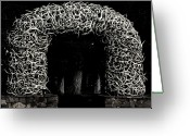 Horns Greeting Cards - Elk Antlers Gate Jackson Hole WY Greeting Card by Christine Till