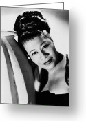 Entertainer Greeting Cards - Ella Fitzgerald (1917-1996) Greeting Card by Granger