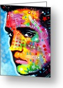 Music Icon Greeting Cards - Elvis Presley Greeting Card by Dean Russo