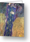 Klimt Greeting Cards - Emilie Floege Greeting Card by Gustav Klimt