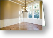 Wood Floors Greeting Cards - Empty Room Greeting Card by Andersen Ross