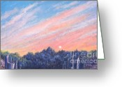 Sunset Prints Pastels Greeting Cards - enchanced Catching the Sunset  Greeting Card by Penny Neimiller
