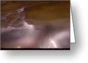 Unusual Lightning Greeting Cards - Energy Greeting Card by James Bo Insogna