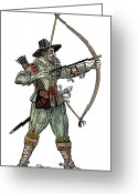 Glove Greeting Cards - English Archer, 1634 Greeting Card by Granger