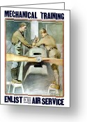 World War One Greeting Cards - Enlist In The Air Service Greeting Card by War Is Hell Store