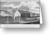 Erie Barge Canal Greeting Cards - Erie Canal, 1825 Greeting Card by Granger