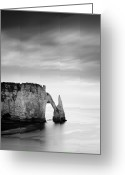 Nina Greeting Cards - Etretat Greeting Card by Nina Papiorek