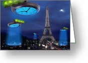 Night Time Greeting Cards - European Time Traveler Greeting Card by Mike McGlothlen