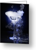 Smoke Greeting Cards - Exotic Drink Greeting Card by Oleksiy Maksymenko