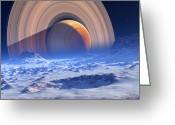 Extrasolar Planet Greeting Cards - Extrasolar Planet Greeting Card by Detlev Van Ravenswaay