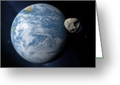 Extrasolar Planet Greeting Cards - Extrasolar Planet Gliese 581c, Artwork Greeting Card by Detlev Van Ravenswaay