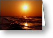 Eutemey Greeting Cards - Extreme Blazing Sun Greeting Card by Kendall Eutemey