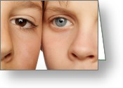 Two By Two Greeting Cards - Eye Colour Greeting Card by Mauro Fermariello