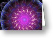 Storm Digital Art Greeting Cards - Eye Of The Storm Greeting Card by Ricky Barnard