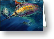 Wildlife Greeting Cards Prints Painting Greeting Cards - Eye On The Ball Greeting Card by Mike Savlen