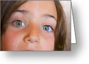 Signed Greeting Cards - Eyes Have It Greeting Card by Chuck Staley