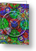 Vibrant Greeting Cards - Faces of Time 3 Greeting Card by Mike McGlothlen