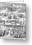 Cole Photo Greeting Cards - Factory Interior, 1880 Greeting Card by Granger