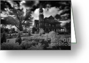 Wolfman Greeting Cards - Fairlawn Mansion Greeting Card by Phantasmagoria Photography