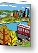 Point Park Greeting Cards - Fall from above II Greeting Card by Ron Magnes