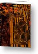 Petoskey Painting Greeting Cards - Fall Greeting Card by Trisha Moran