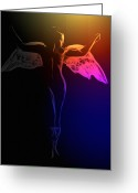 Curves Greeting Cards - Fallen Angel Greeting Card by Stefan Kuhn