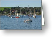 Sea Greeting Cards - Falmouth Harbour Greeting Card by Rod Johnson