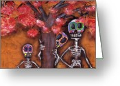 Whimsical Tree Greeting Cards - Family Tree Greeting Card by  Abril Andrade Griffith