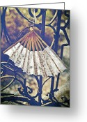 Shade Greeting Cards - Fan Greeting Card by Joana Kruse