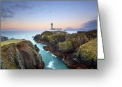 Klarecki Greeting Cards - Fanad Head Lighthouse Greeting Card by Pawel Klarecki