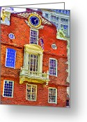 Weather Vane Greeting Cards - Faneuil Hall Greeting Card by Stephen Younts