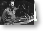Fidel Castro Greeting Cards - Fidel Castro (1926-) Greeting Card by Granger