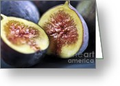 Sliced Greeting Cards - Figs Greeting Card by Elena Elisseeva
