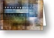 Strips Greeting Cards - Film negatives Greeting Card by Les Cunliffe