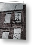 Doors Framed Prints Greeting Cards - Fire Escape  Greeting Card by Jerry Cordeiro
