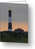 Long Island Greeting Cards - Fire Island Flash Greeting Card by Christopher Kirby