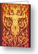 Elements Greeting Cards - Fire Spirit Greeting Card by Cristina McAllister